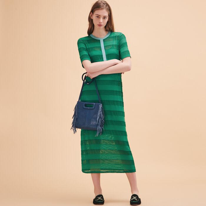 Long knitted string dress -  - MAJE