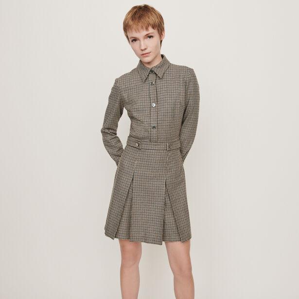 마쥬 자켓스타일 코트 MAJE 119REGOR Plaid jacket-style coat,Grey