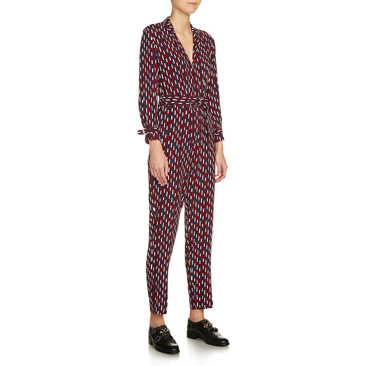 마쥬 MAJE 7PAME Printed trouser suit,PRINTED