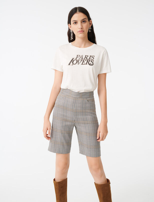 마쥬 티셔츠 MAJE 220TERENCIA Silkscreen printed T-shirt,White