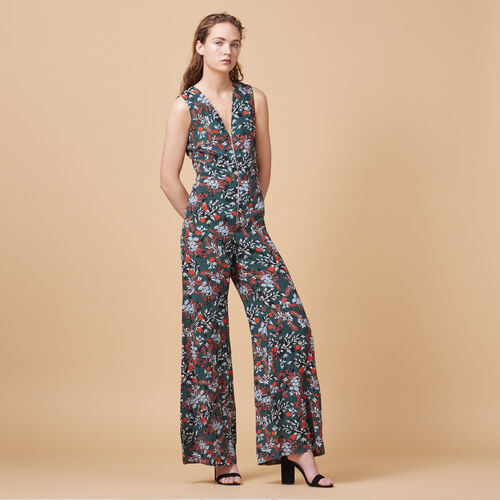 Printed jumpsuit - Pants & Jeans - MAJE