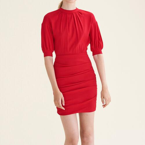 Draped crêpe dress - Dresses - MAJE