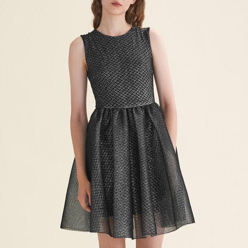Tulle and Lurex sleeveless dress - Evening Capsule - MAJE