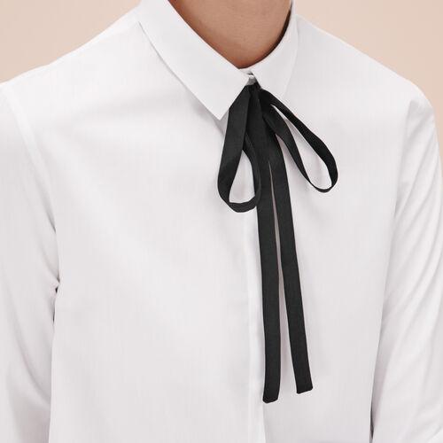 Cotton poplin shirt - Tops & Shirts - MAJE