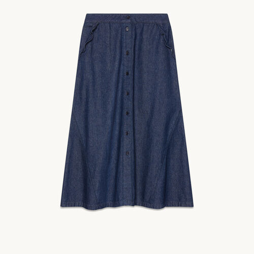 Denim midi skirt - Skirts & Shorts - MAJE
