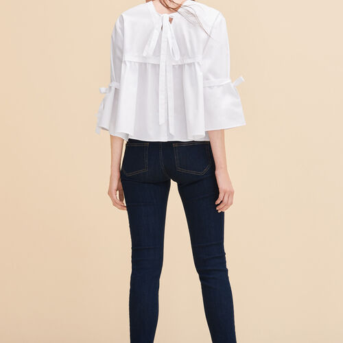 Cotton poplin top - Tops & Shirts - MAJE
