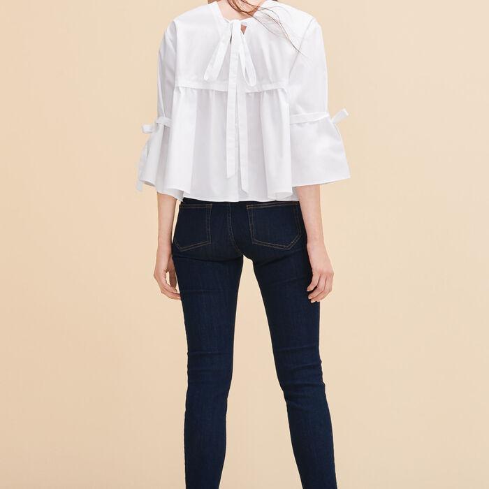 Cotton poplin top -  - MAJE