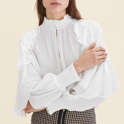 Floaty frilled blouse - Evening Capsule - MAJE