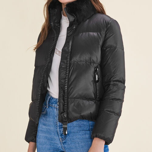 Cropped quilted down jacket - Coats & Jackets - MAJE