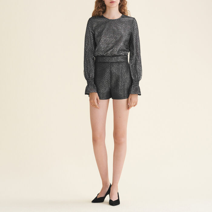 Tulle and lurex playsuit - Evening Capsule - MAJE