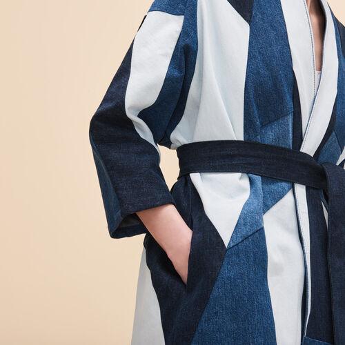 Patchwork denim jacket - Coats & Jackets - MAJE