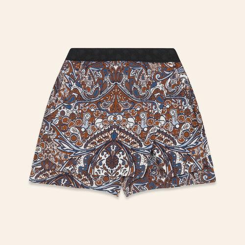 2-in-1 effect jacquard shorts - Skirts & Shorts - MAJE