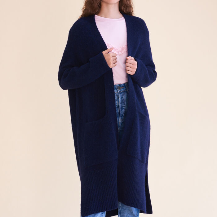 Long oversized cardigan -  - MAJE