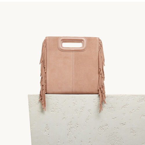 Suede M bag - Shoes & Accessories - MAJE