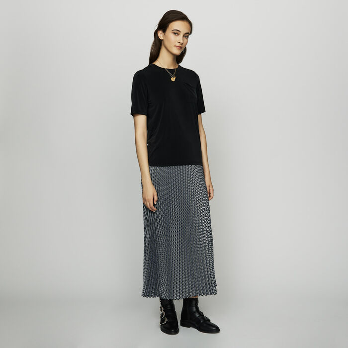 Cupro T-shirt -  - MAJE