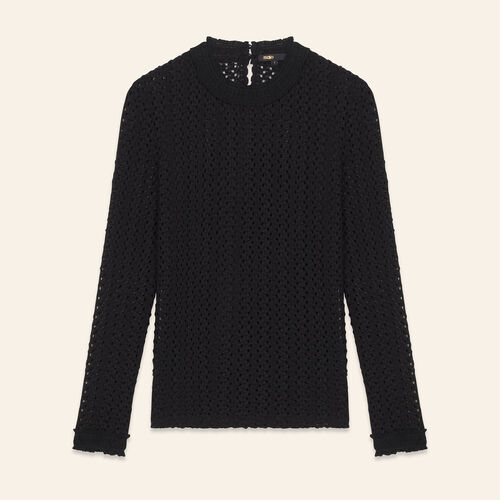 Top with a mixture of embroidery - Sweaters - MAJE