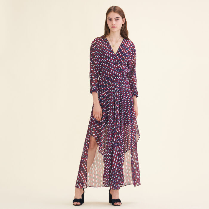 Long dress with graphic print - Majexclusive - MAJE