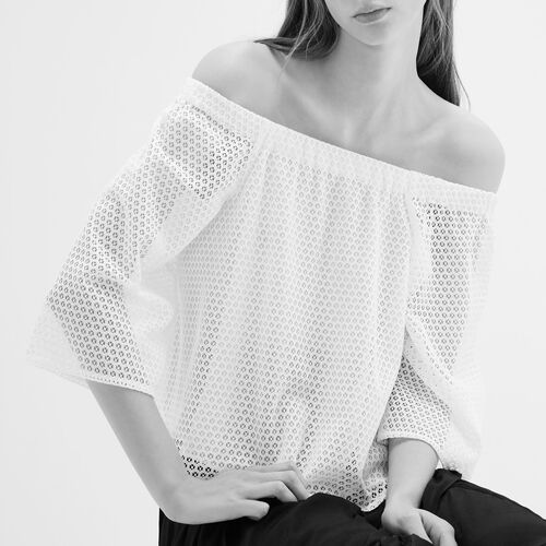 Lace top - Tops & Shirts - MAJE