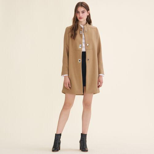 Coat with decorative fastenings - Coats & Jackets - MAJE