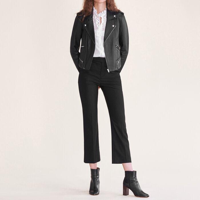 Formal wool trousers -  - MAJE