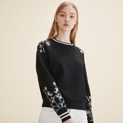 Embroidered sweatshirt - Sweaters - MAJE