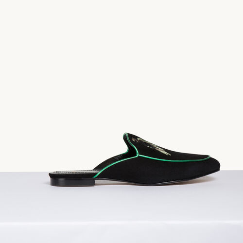 Velvet slipper - Shoes & Accessories - MAJE