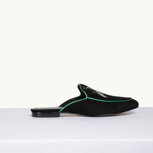 Velvet slipper - Shoes & Accessories - MAJE