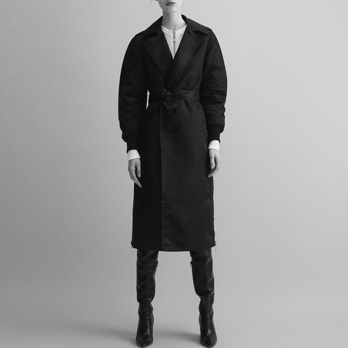 Trench coat with side zips - Coats & Jackets - MAJE