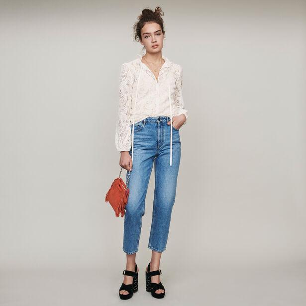 마쥬 청바지 MAJE 119PARIO High-waisted jeans,Blue
