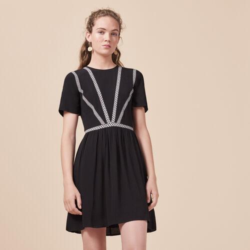 Short crepe dress - Dresses - MAJE