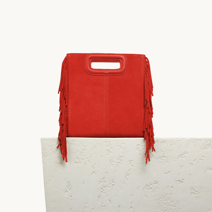 Suede M bag - In Bloom - MAJE