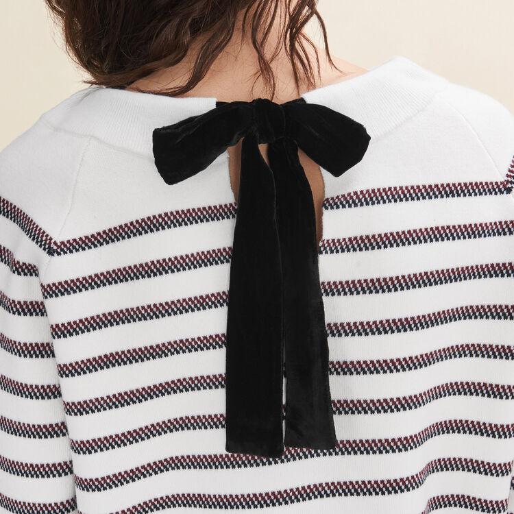Wool blend Breton jumper - Sweaters - MAJE