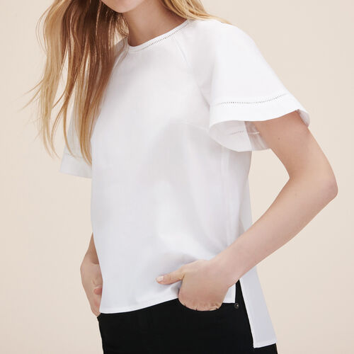 Top with openwork detail - Tops & Shirts - MAJE