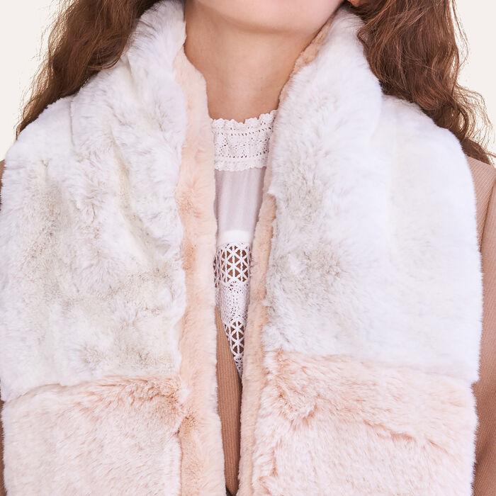 Two-tone faux fur scarf -  - MAJE
