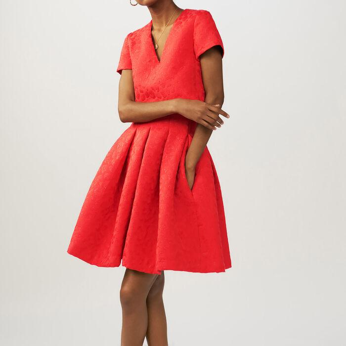 Jacquard leopard sleeveless dress - Dresses - MAJE