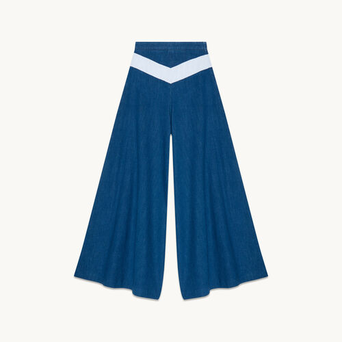 Denim culottes - Pants & Jeans - MAJE
