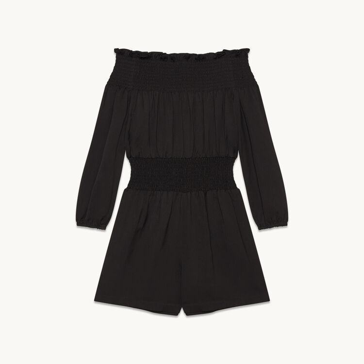 Playsuit with smocking - Skirts & Shorts - MAJE