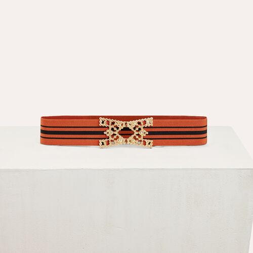 Wide elasticated belt with stripes - Belts - MAJE