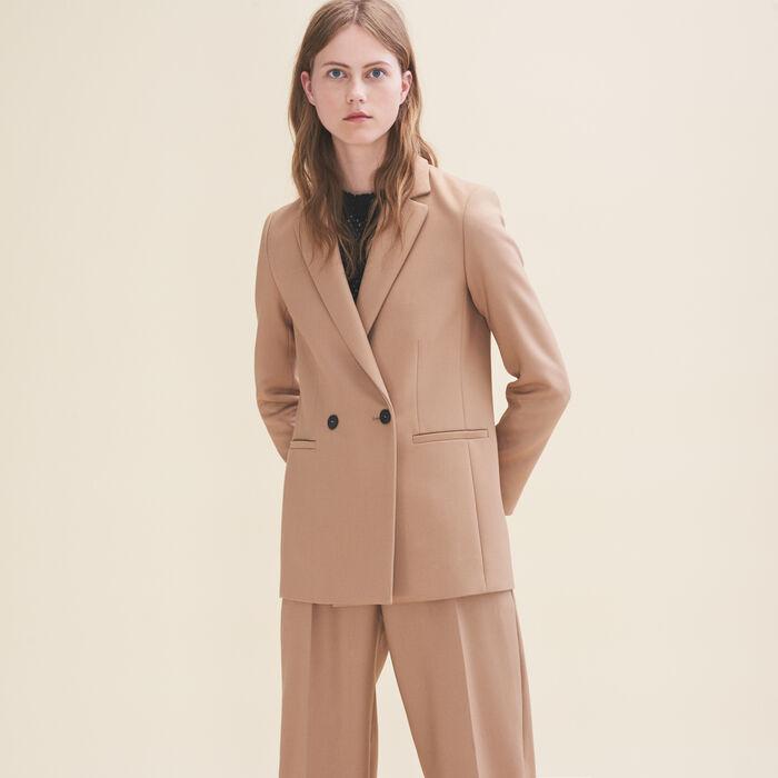 Mid-length tailored jacket - Coats & Jackets - MAJE