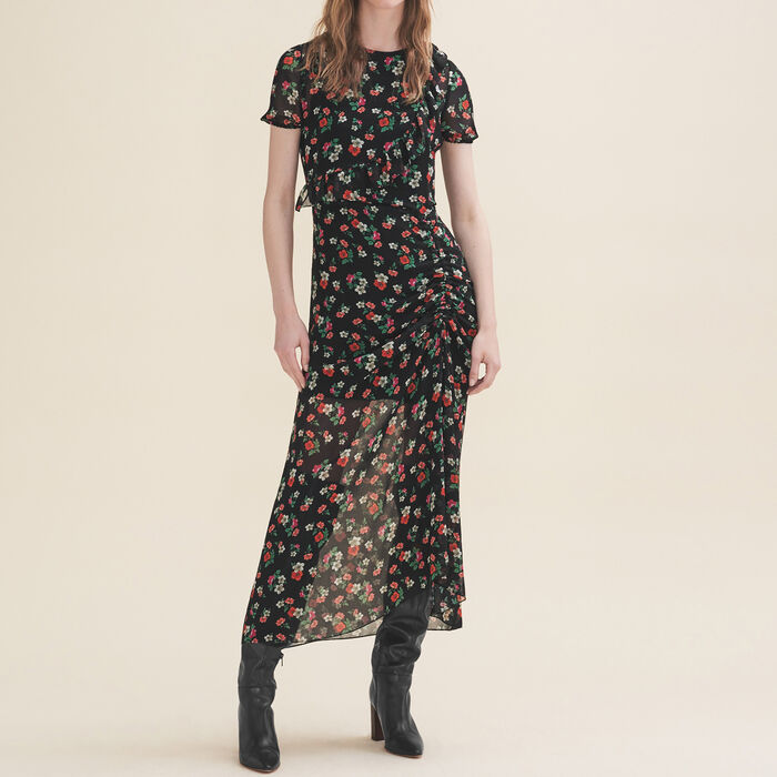 Long printed dress -  - MAJE