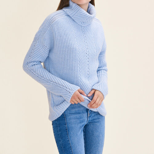 Oversized roll-neck jumper - Sweaters - MAJE