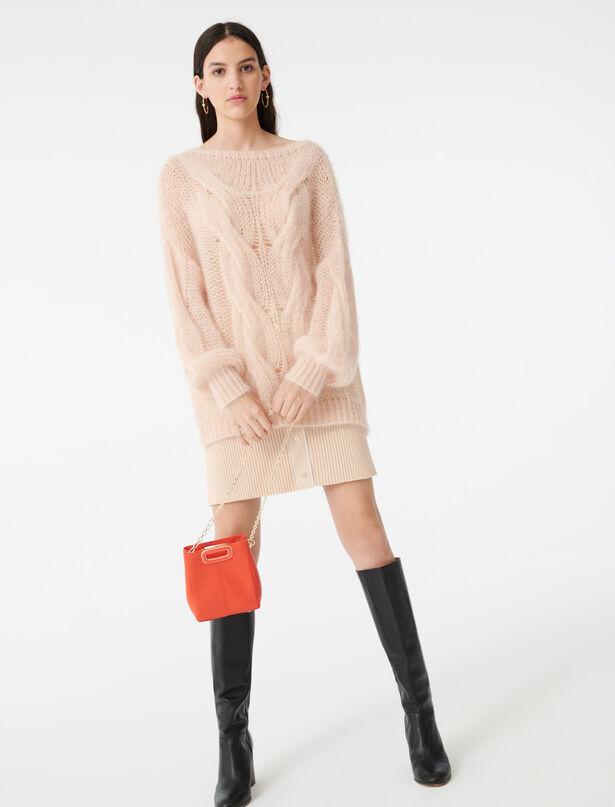 마쥬 MAJE 220MORSADE Cable knit sweater,Beige