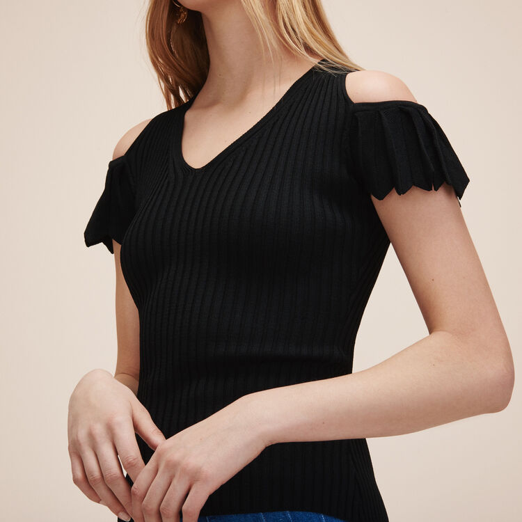 Stretch knit jumper - Sweaters - MAJE