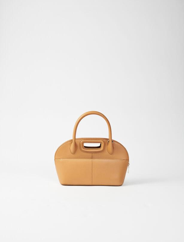마쥬 크로스바디백 MAJE 220DAYBAGMMLEATHER Smooth leather Bugatti bag,Camel