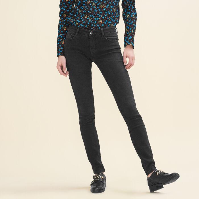 Stretch cotton skinny jeans -  - MAJE