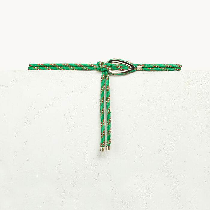 Rope belt with jewellery detailing -  - MAJE