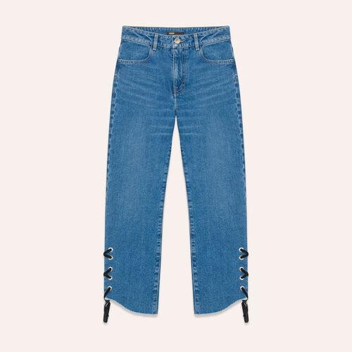 Boyfriend-cut cropped jeans - Pants & Jeans - MAJE