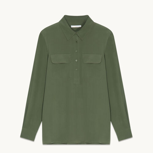 Silk blouse - Tops & Shirts - MAJE