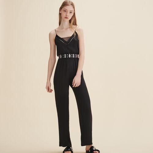 Crepe jumpsuit - Pants & Jeans - MAJE