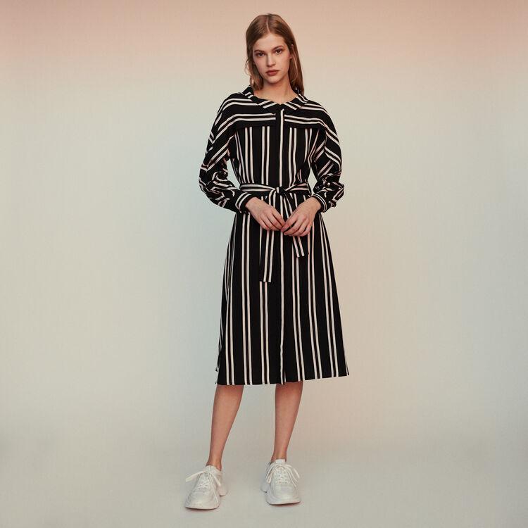 마쥬 RAJI 스트라이프 롱 셔츠 원피스 MAJE Striped shirt dress,Stripe